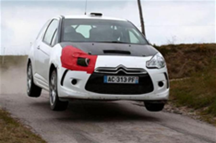 Citroen DS3 rally car spied