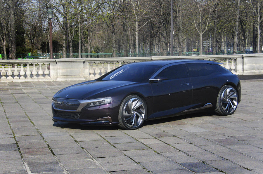 Citroen DS9 caught undisguised