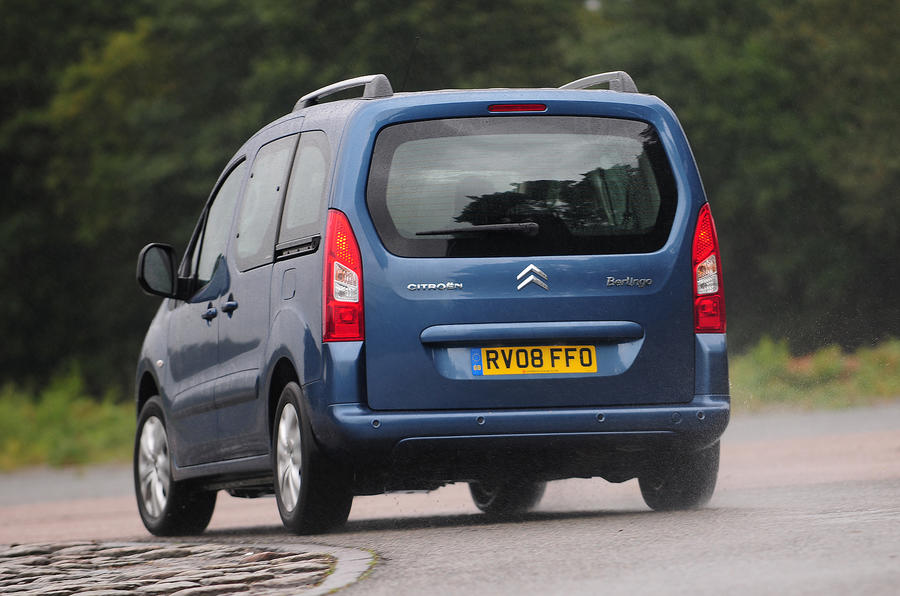 Citroën Berlingo rear cornering