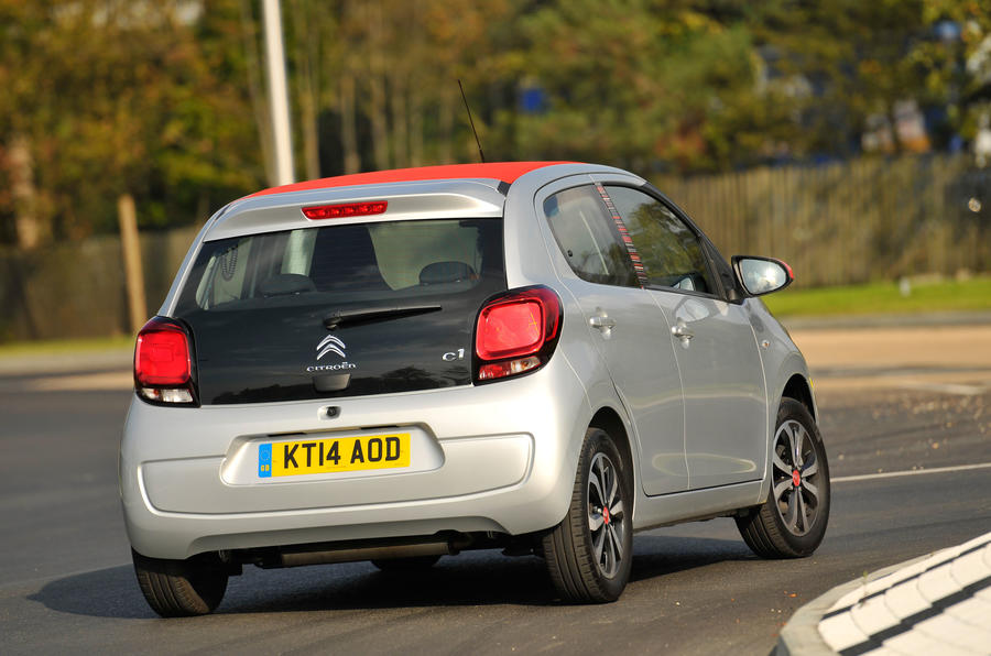 Citroen C1 rear cornering