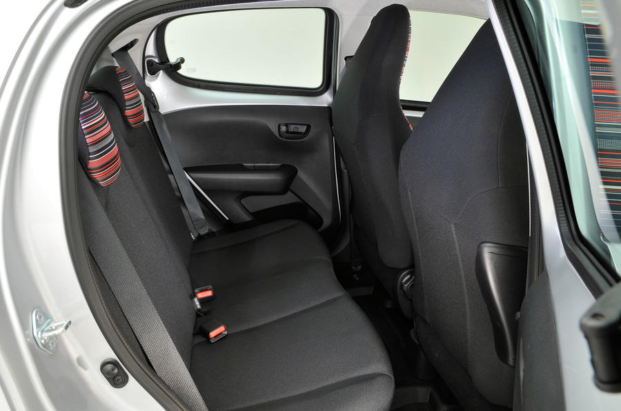 Citroen C1 rear seats