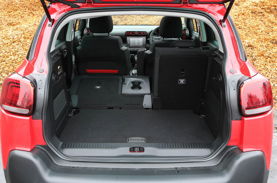 CItroen C3 Aircross 2018 review boot space seats down