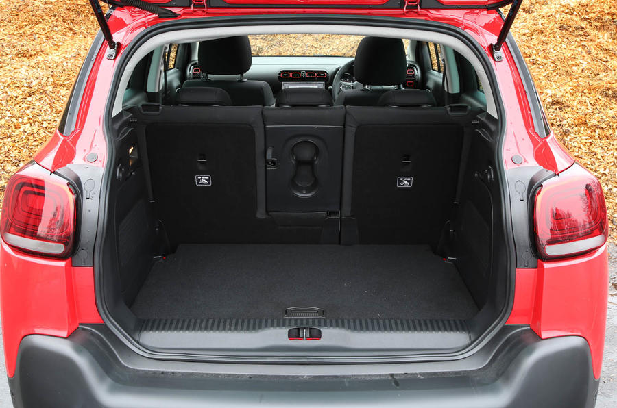 CItroen C3 Aircross 2018 review boot space seats up