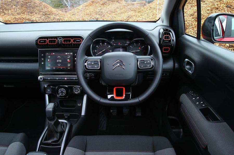 CItroen C3 Aircross 2018 review drivers seat