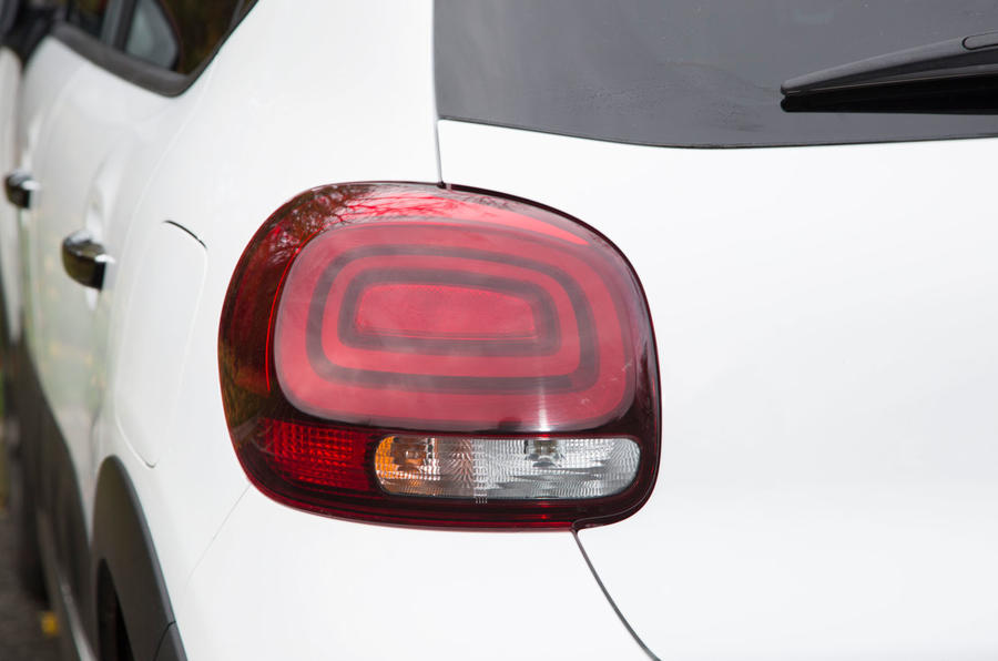 Citroën C3 rear lights