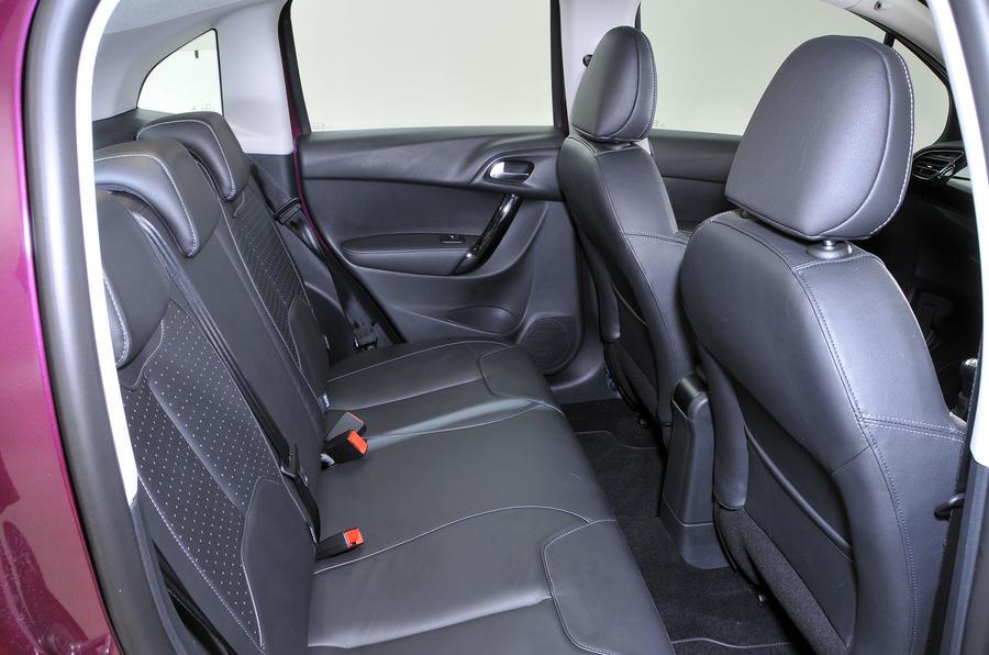 Citroën C3 rear seats