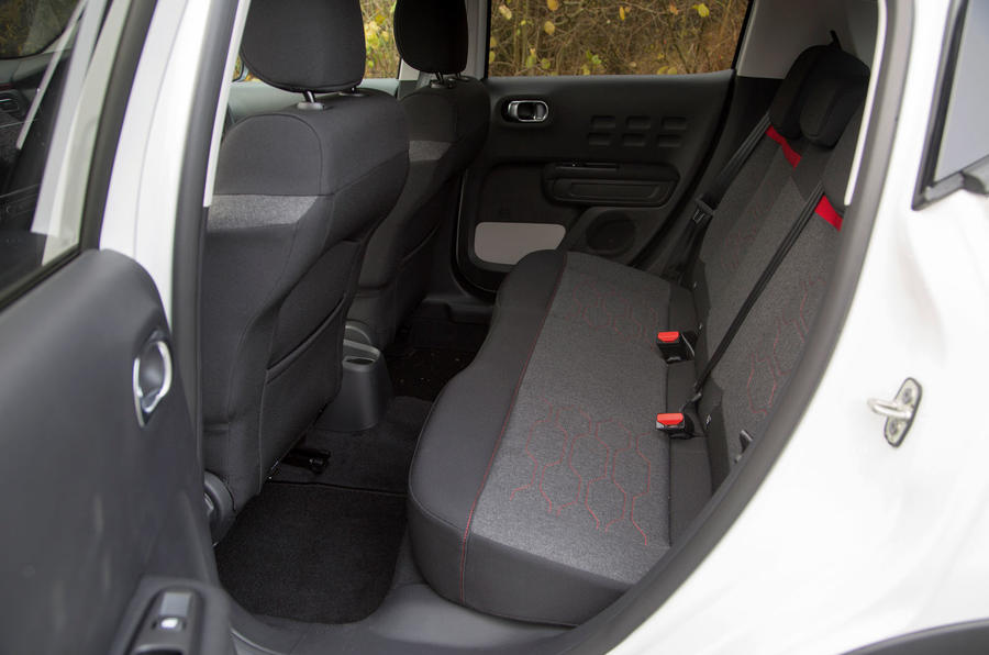 Citroën C3 rear seats