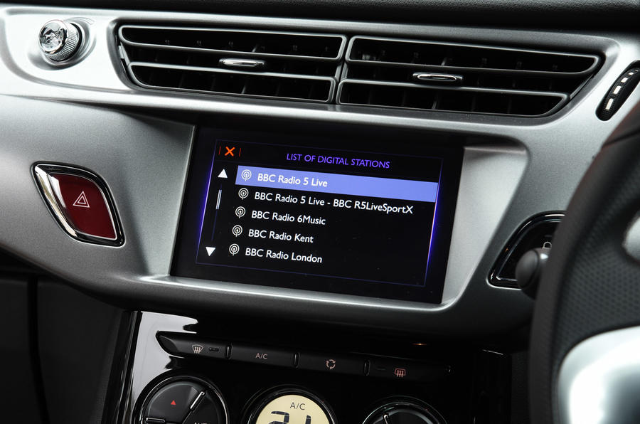 DS 3 infotainment system