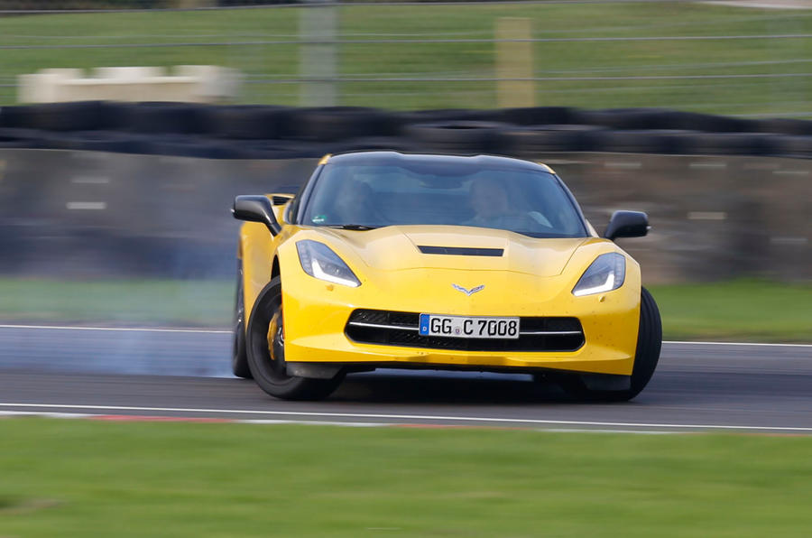 Corvette C7 Stingray hard cornering