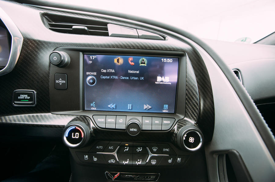 Corvette C7 Stingray infotainment screen