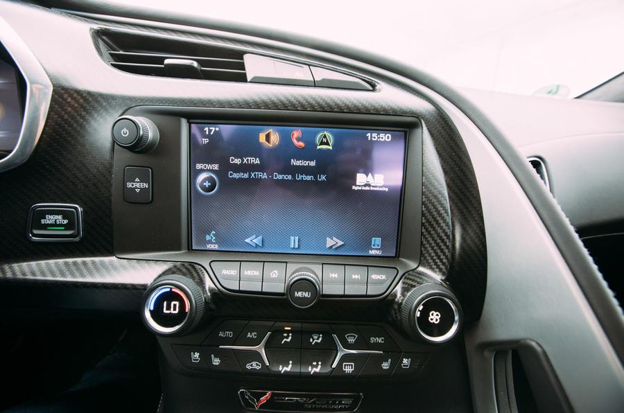 Corvette C7 Stingray infotainment screen