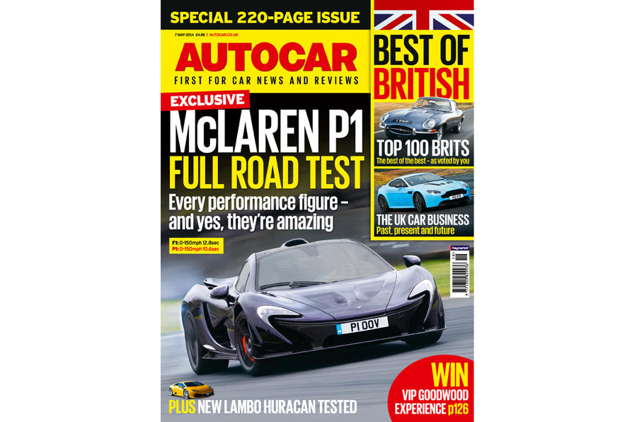Autocar road tests the McLaren P1