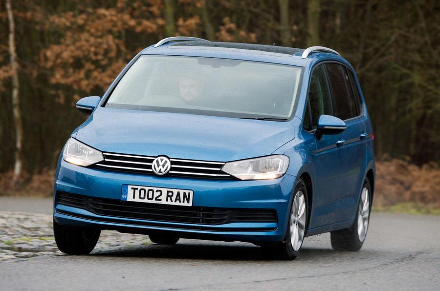 Volkswagen Touran hard cornering