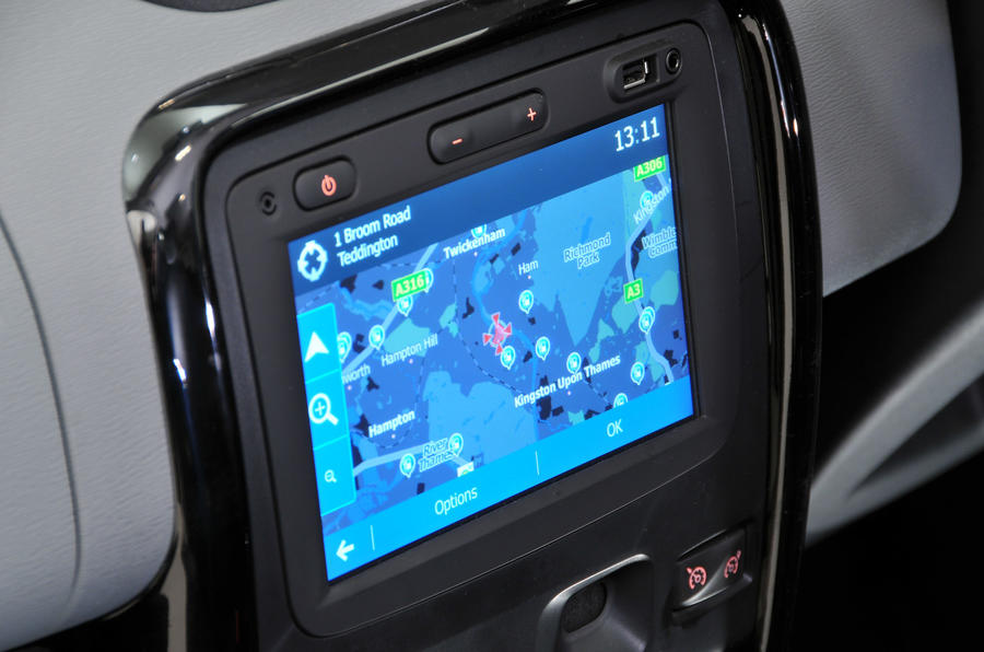 Dacia Duster infotainment system