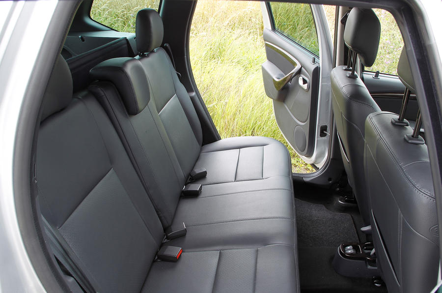 The rear seats in the Dacia Duster