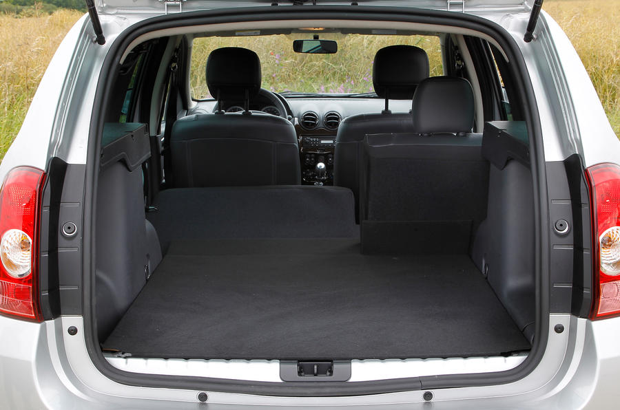 The wide opening to the Dacia Duster's boot