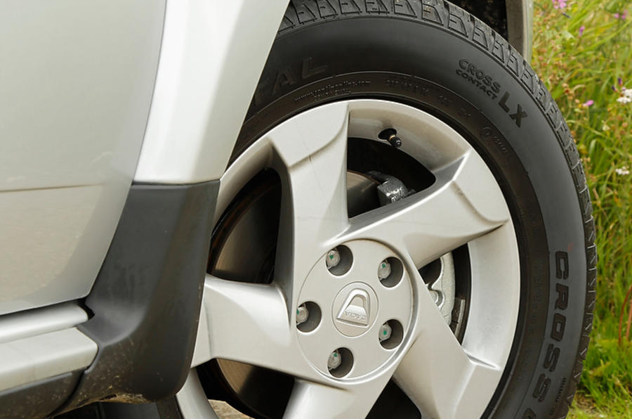 Dacia Duster only comes with alloy wheels in Ambiance trim and above as standard