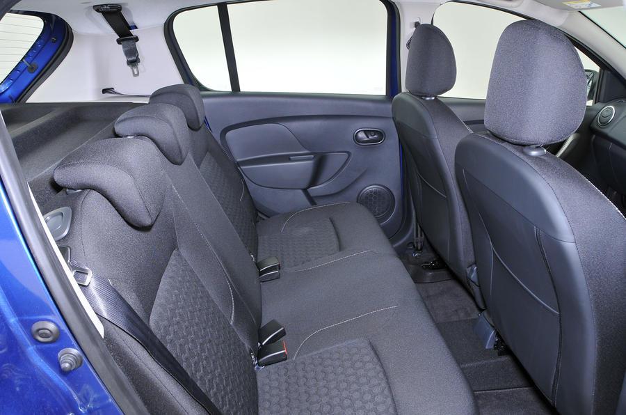 Dacia Sandero rear seats