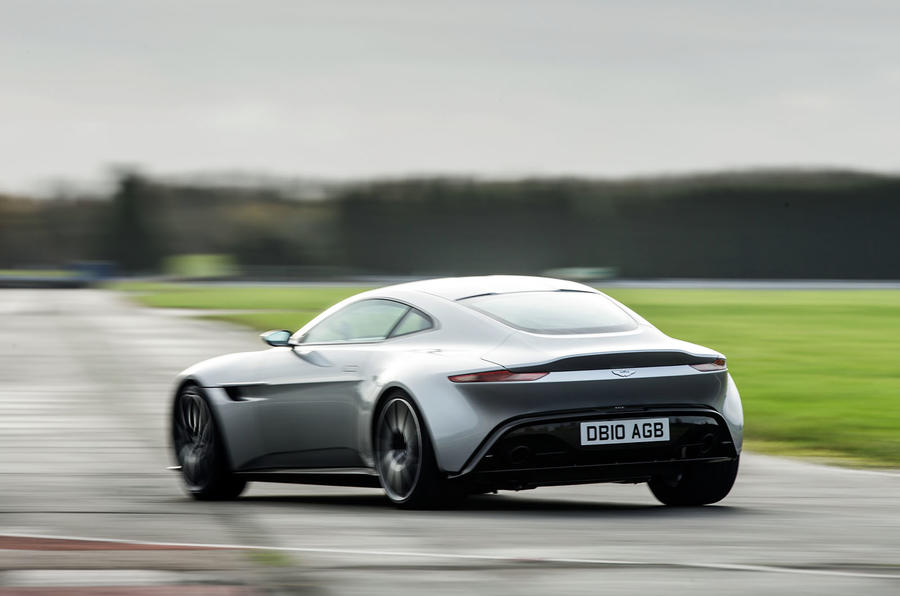 ...mainly because the DB10 has a big V8 and a limited-slip differential