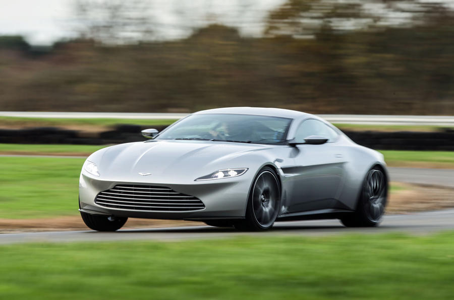 DB10 is tail happy like any RWD Aston Martin...