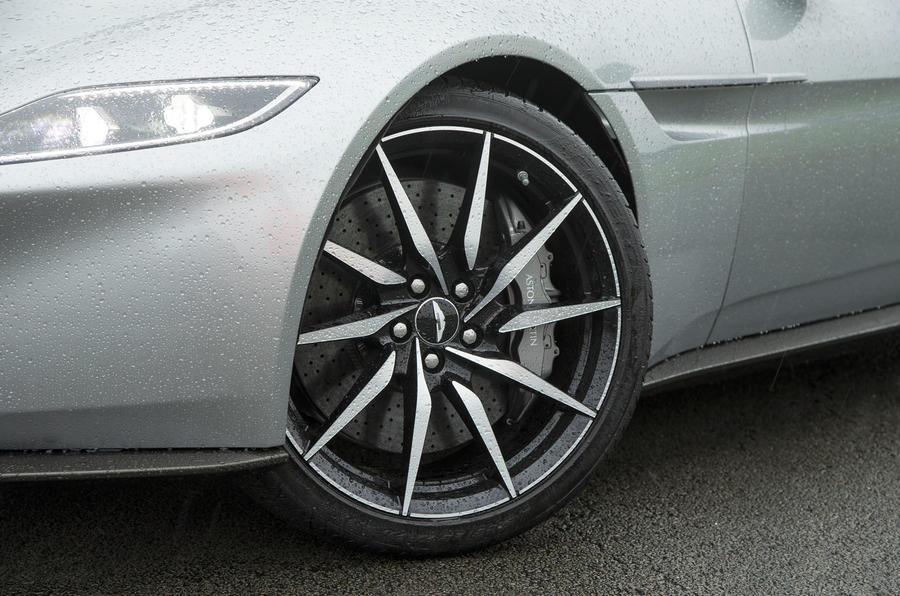 Aston Martin DB10's bespoke diamond cut alloy wheels