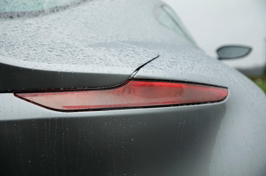 Aston Martin's thin light curtain technology rear lights