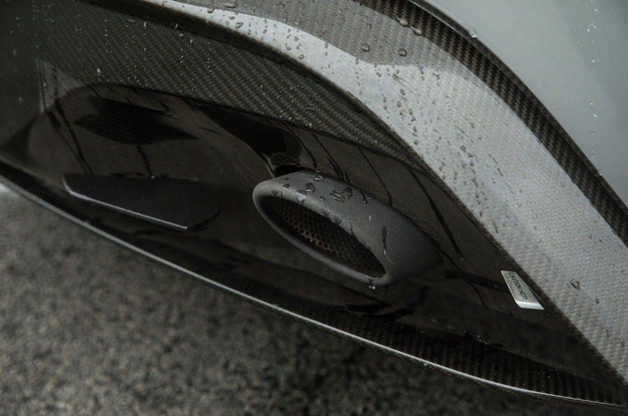 DB10's rear diffuser aids the Aston Martin's stability