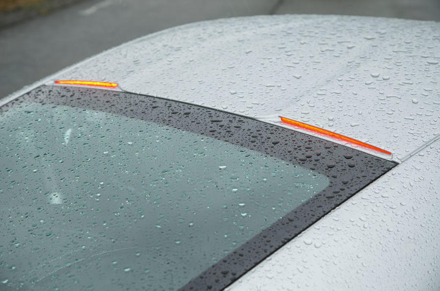 Aston Martin DB10's illegal high mounted rear stop lights