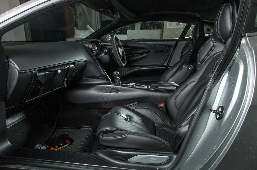 The DB10's well shaped and supportive front seats