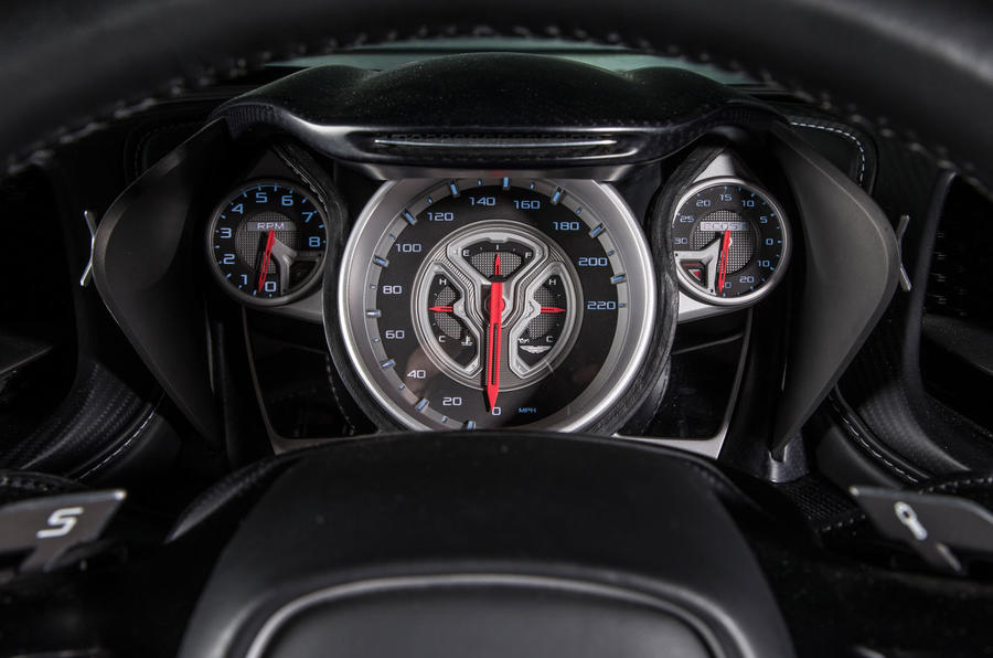 The DB10's instrument cluster