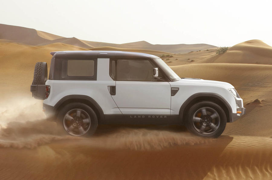 Template set for new Land Rover Defender