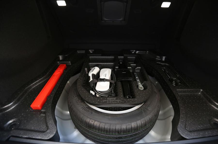Denza Notchback EV spare wheel