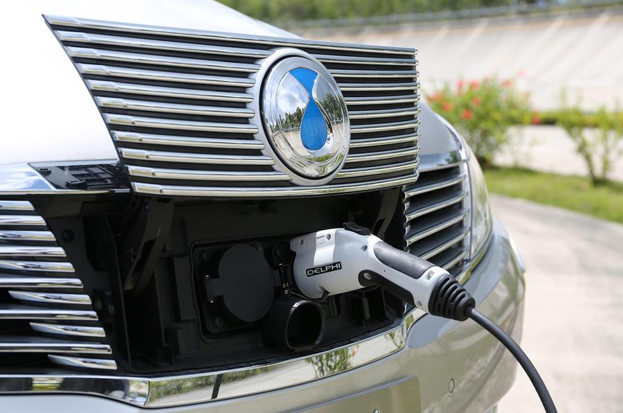 Denza Notchback EV charging port