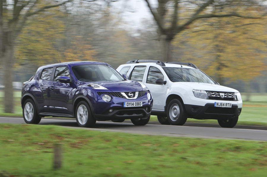 The Dacia Duster costs £9495, a steal next to the £15,320 Nissan