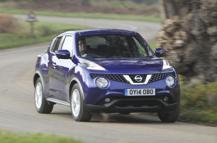 The Nissan is the quickest to 62mph, taking 10.8 seconds