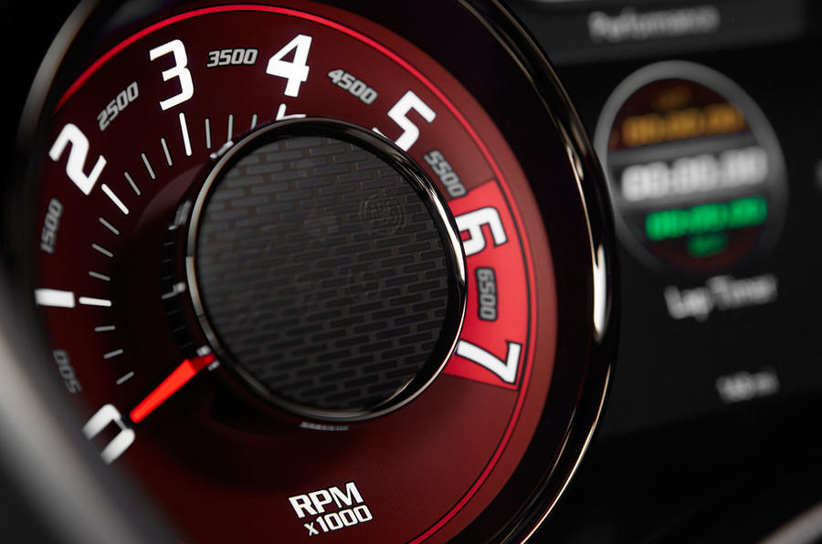 Dodge Challenger SRT Hellcat rev counter