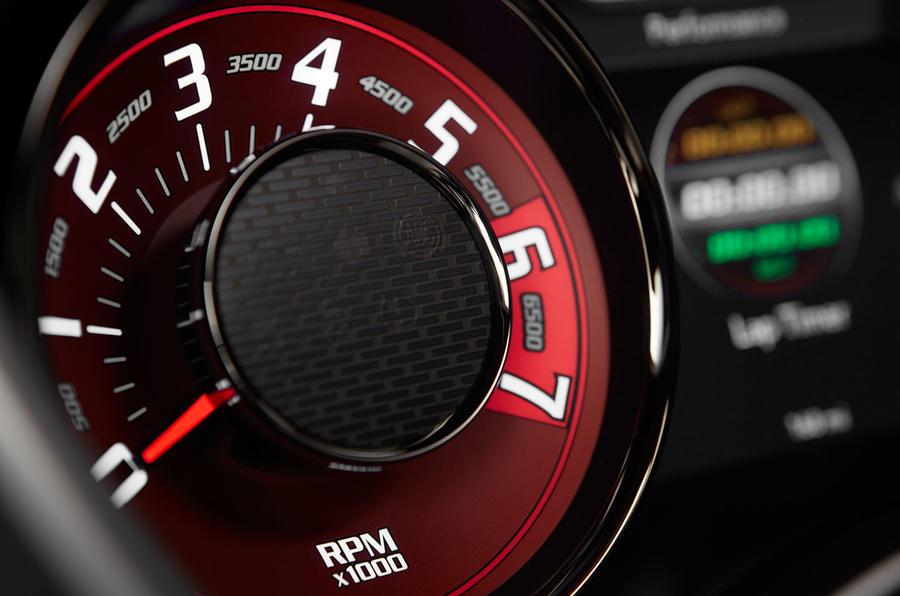 Dodge Challenger SRT Hellcat rev counter