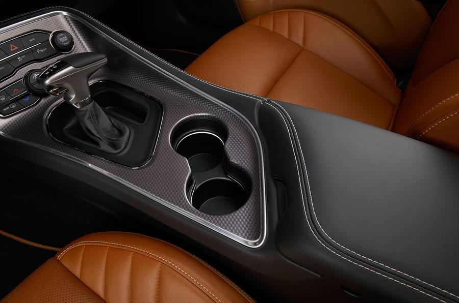 Dodge Challenger SRT Hellcat cupholders