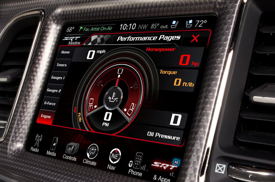 Dodge Challenger SRT driving dynamics