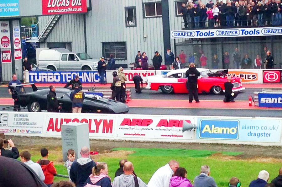 The thrills and spills of Santa Pod