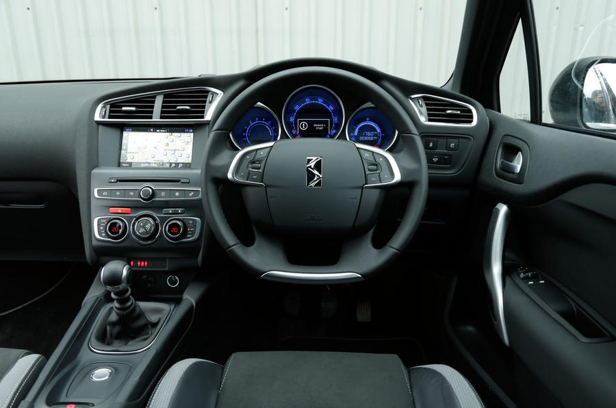 The view from the driver's seat of the DS 4 Crossback