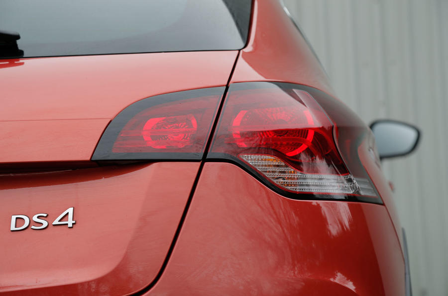 The shaped rear lights give the DS 4 Crossback a smooth hatchback shape
