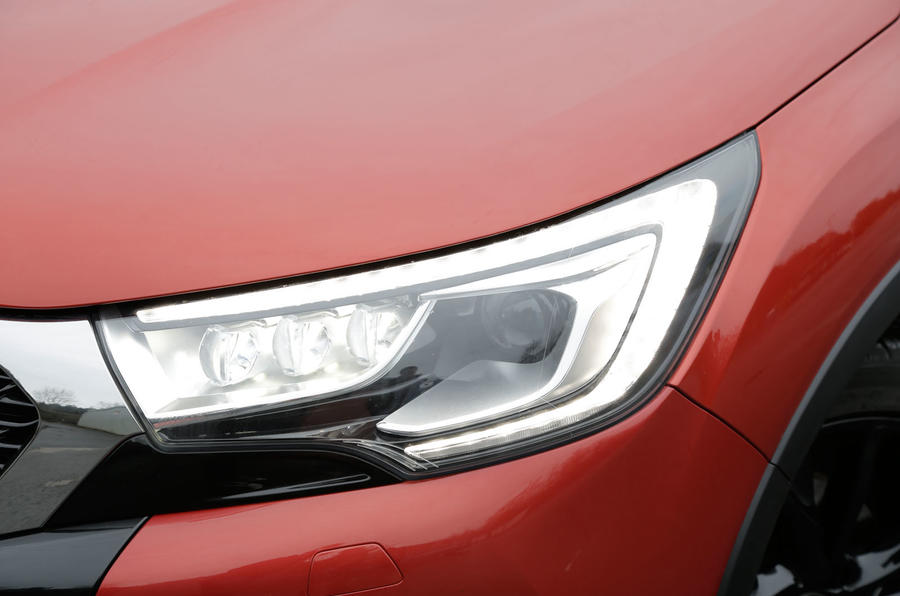 The more distinctive headlights on the DS 4 Crossback