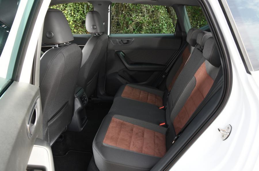 Rear seats in the Seat Ateca