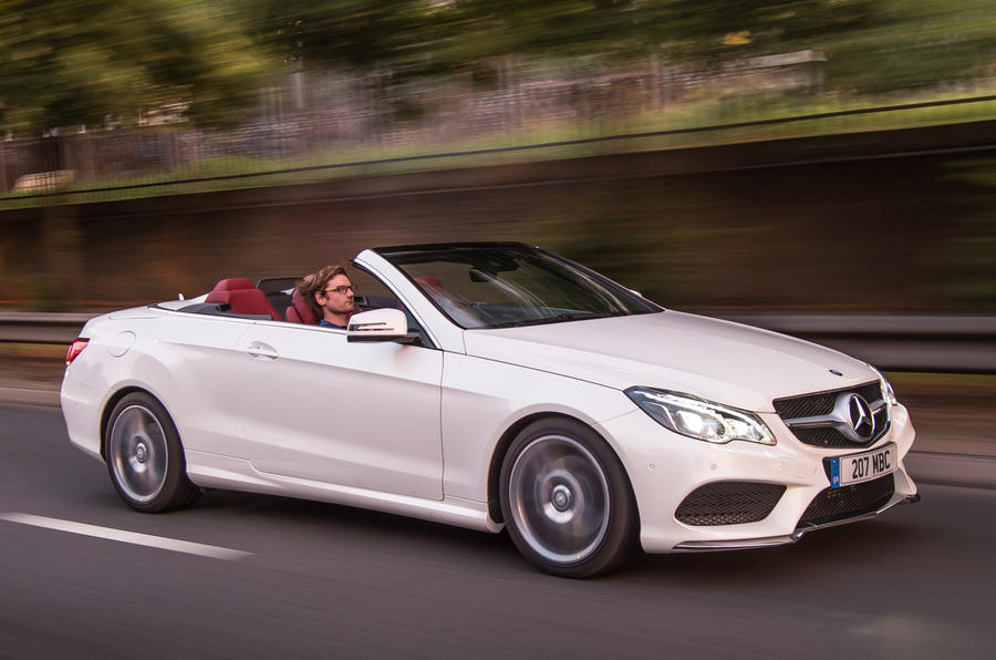 Roof down E-Class Coupé