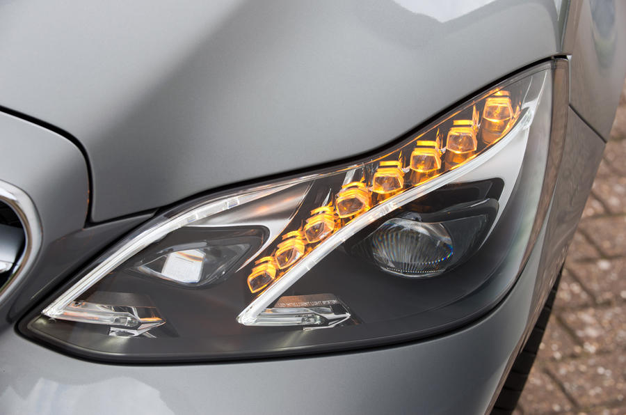 Mercedes-Benz E-Class LED headlights