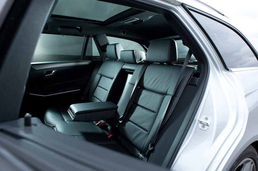 Mercedes-Benz E-Class rear seats