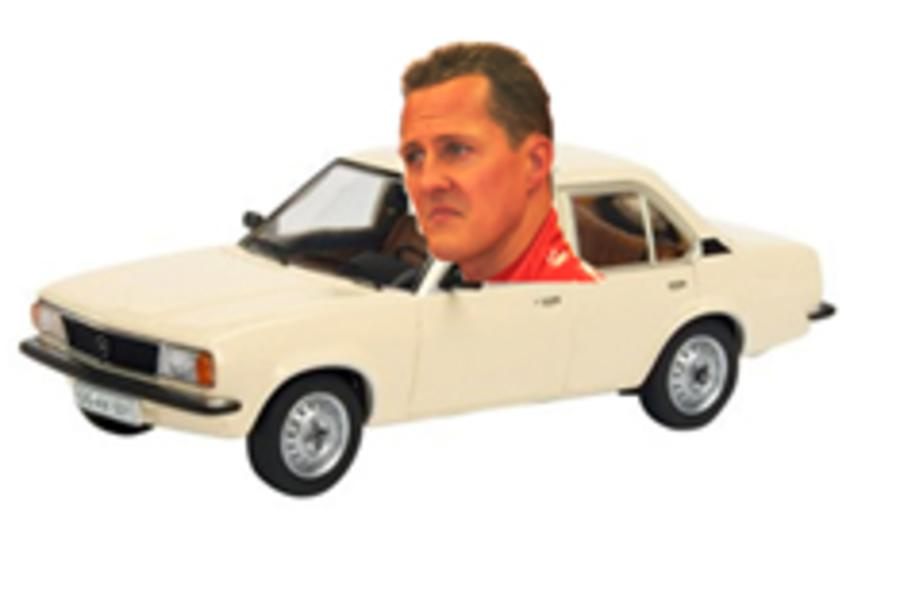 F1 star Schumacher turns airport cabbie