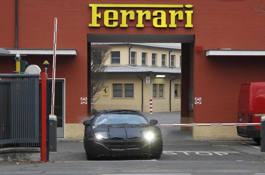 Next Ferrari 599 spied testing
