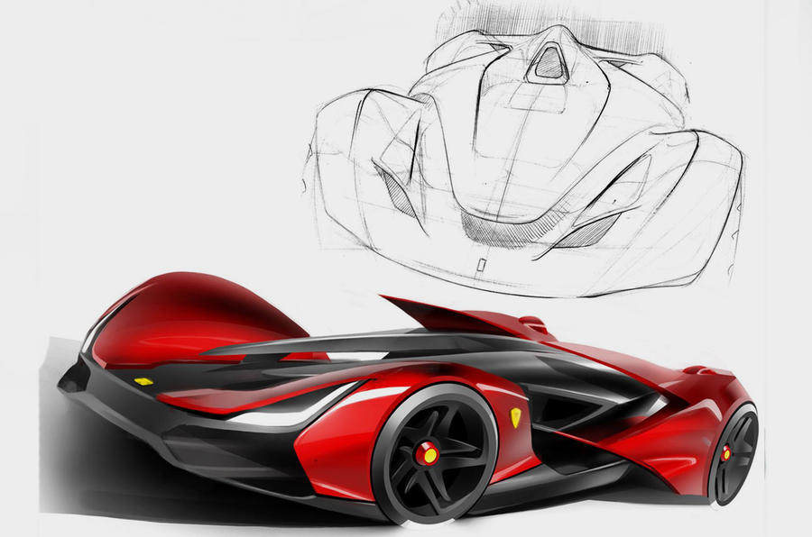 Image Result For How To Draw A Ferrari